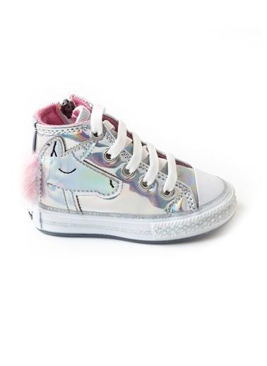 minipicco Kız Cocuk Hologram Atlı Ortopedik Destekli Spor Ayakkabı Renksiz